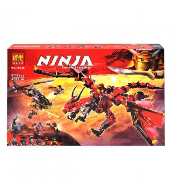 Конструктор Ninja: дракон и вертолёт 918 дет 10938