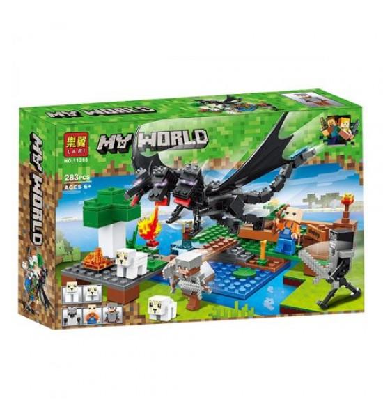 Конструктор My World Minecraft: Нападение дракона 283 дет 11265