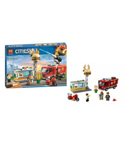 Конструктор Cities: пожар в закусочной (с водяной помпой) 345 дет 11213