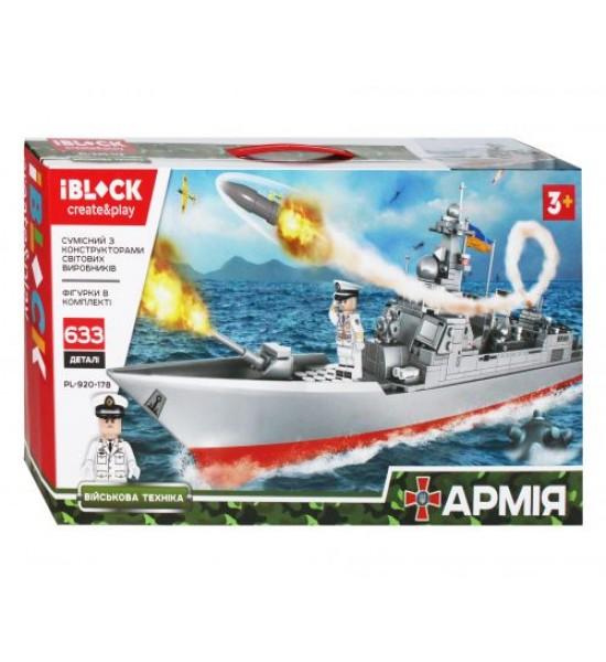 Конструктор iBlock: Эсминец  633 детали PL-920-178