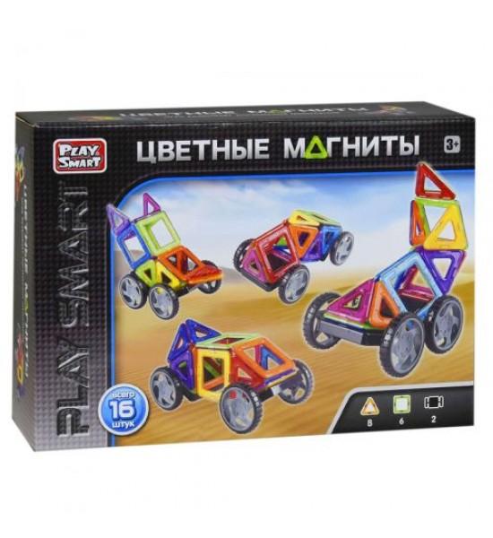 Конструктор магнитный Цветные магниты (16 деталей) 2426