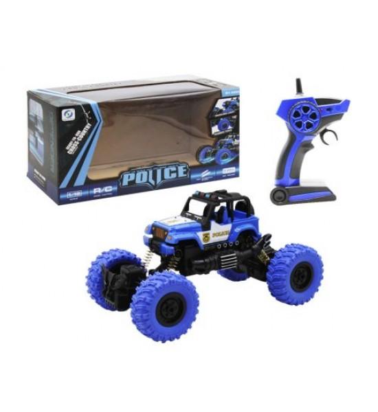 Машинка на радиоуправлении Police синий 689-1A