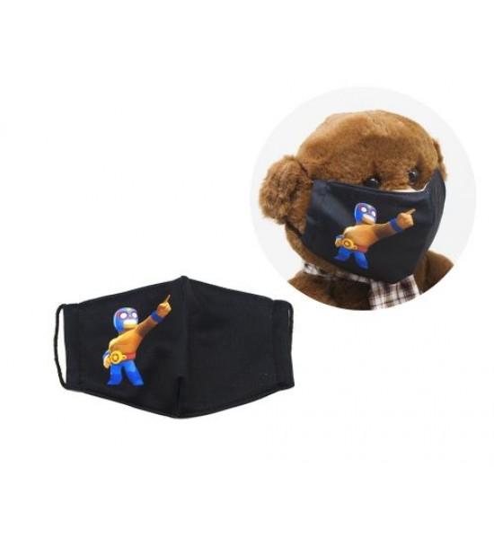 Многоразовая 4-х слойная защитная маска BRAWL STARS Эль Примо размер 3 7-14 лет mask2NEW