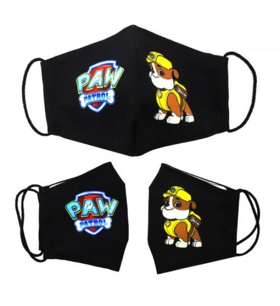 Многоразовая 4-х слойная защитная маска Щенячий патруль Крепыш размер 3 7-14 лет mask2NEW