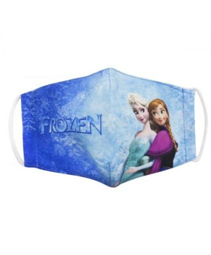 Многоразовая 4-х слойная защитная маска Холодное сердце: Эльза и Анна размер 3 7-14 лет mask2NEW