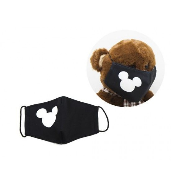Многоразовая 4-х слойная защитная маска Микки Маус размер 3 7-14 лет mask2NEW