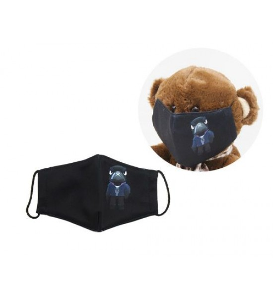 Многоразовая 4-х слойная защитная маска BRAWL STARS Ворон размер 3 7-14 лет mask2NEW