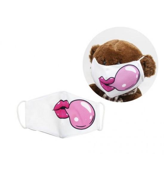 Многоразовая 4-х слойная защитная маска Bubble Gum размер 3 7-14 лет (белый) mask2NEW