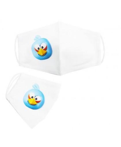 Многоразовая 4-х слойная защитная маска Angry birds Джей размер 3 7-14 лет mask2NEW