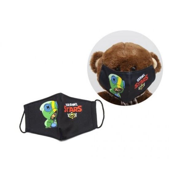 Многоразовая 4-х слойная защитная маска BRAWL STARS Леон размер 3 7-14 лет mask2NEW