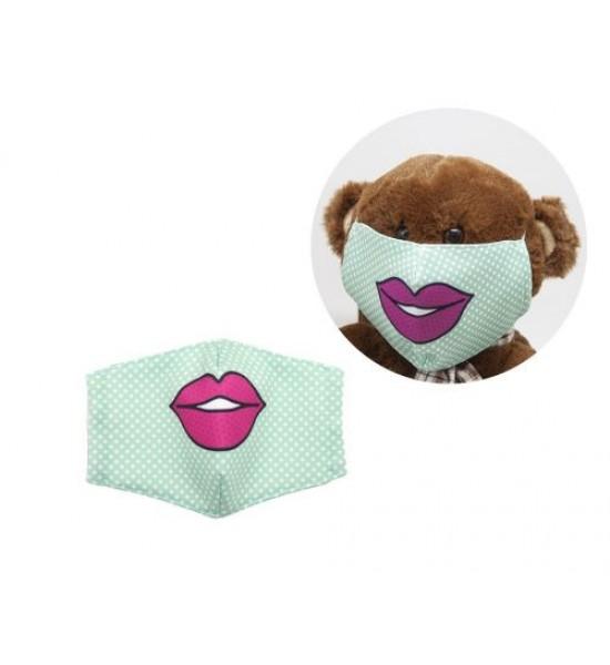 Многоразовая 4-х слойная защитная маска Губки размер 3 7-14 лет (зеленый) mask2NEW