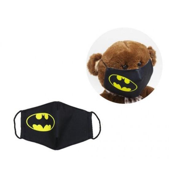 Многоразовая 4-х слойная защитная маска Бетмен размер 3 7-14 лет mask2NEW