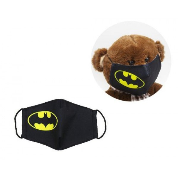Многоразовая 4-х слойная защитная маска Бетмен размер 3 7-14 лет mask2