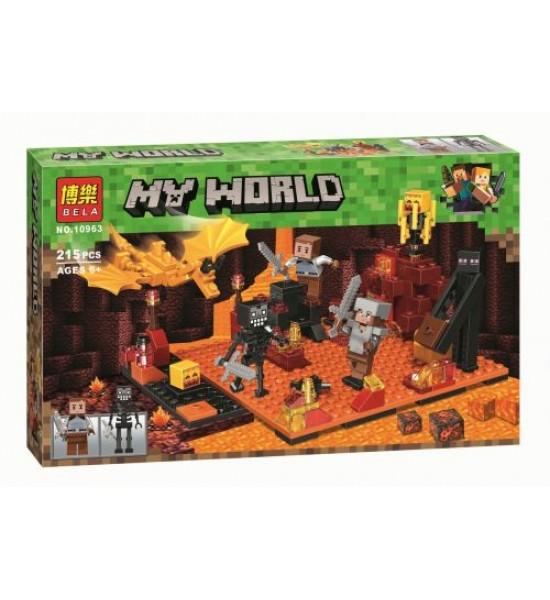 Конструктор My World Minecraft: Битва в подземном мире 215 дет 10963