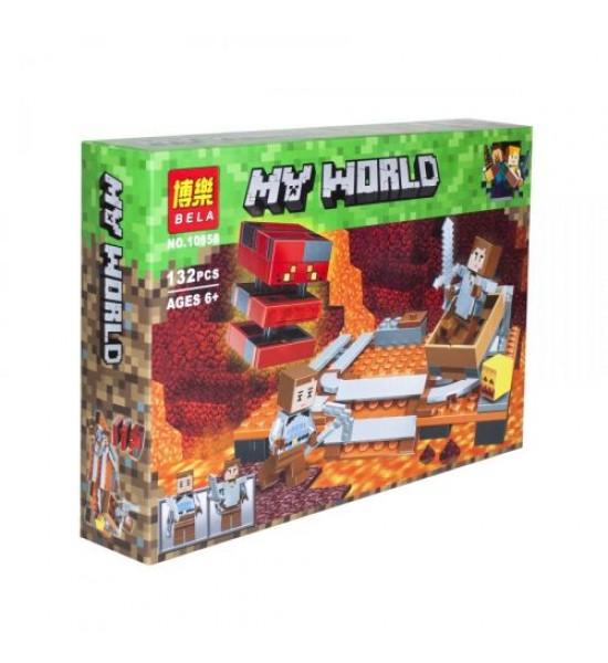 Конструктор My World Minecraft: Лавовый куб 132 детали 10958