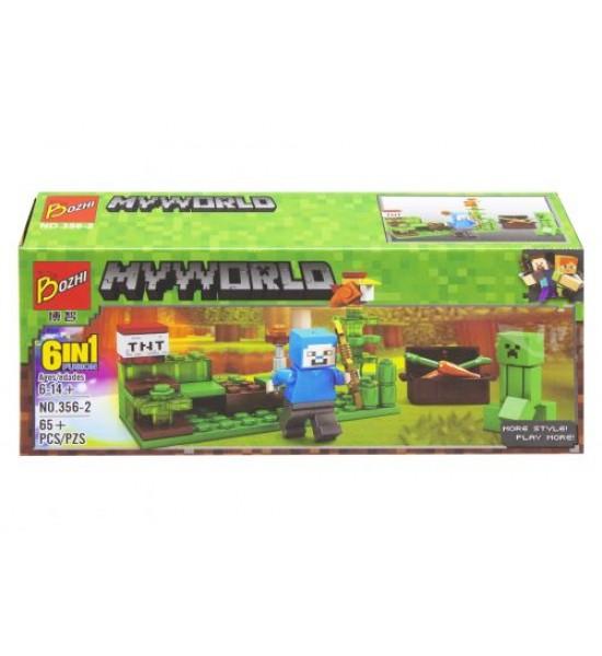 Конструктор Майнкрафт (ферма) 65+ дет 356#1-6