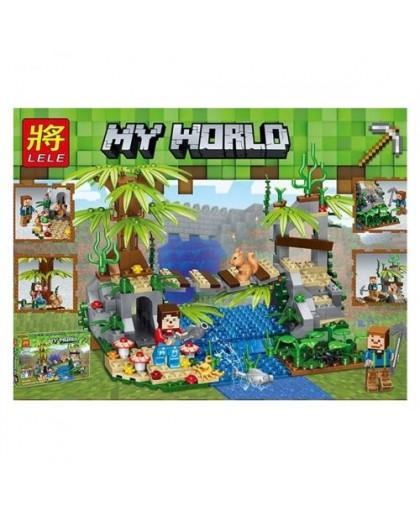 Конструктор My World Minecraft: Мост над водопадом 276 дет 33130