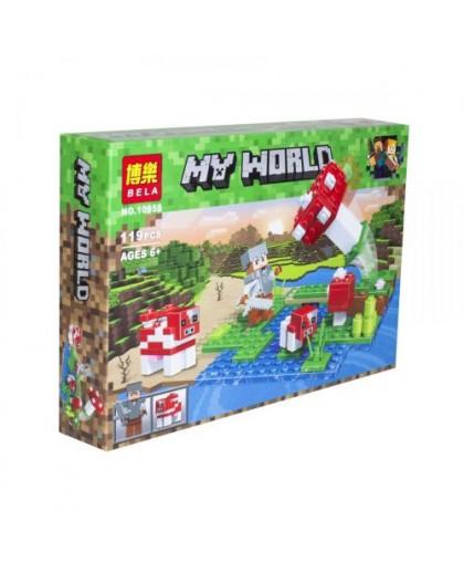 Конструктор My World Minecraft: Грибной остров 119 деталей 10955