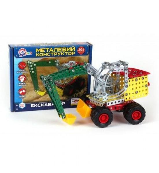 Конструктор металлический Экскаватор ТехноК 4784