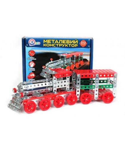 Конструктор металлический Поезд ТехноК 312 деталей 4814