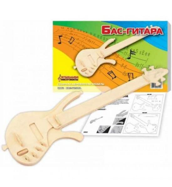 Деревянный конструктор Бас-гитара И002