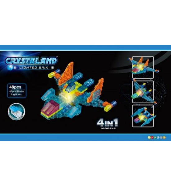 Конструктор CRYSTALAND: Космолет  48 деталей 99001