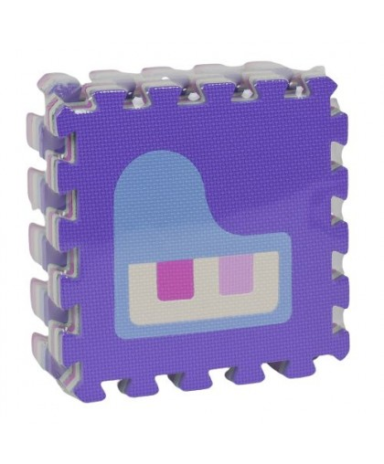 Фомовый коврик-пазл Музыка 9 элементов HK016