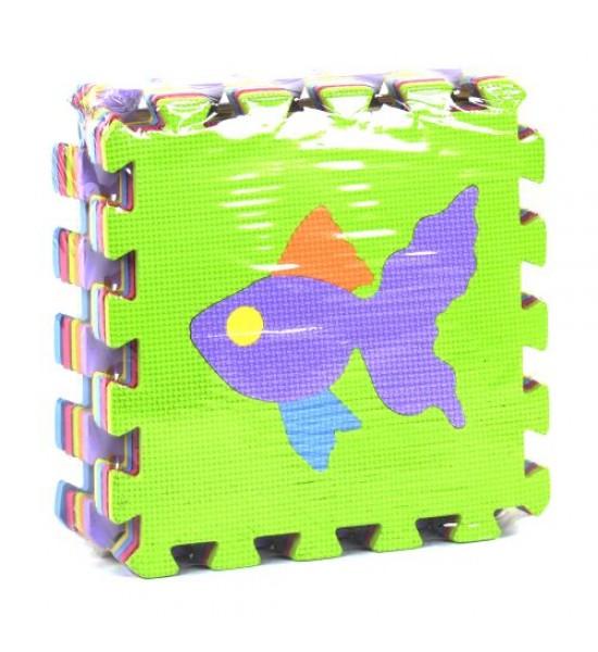 Коврик-пазл Рыбки 9 элементов С36602