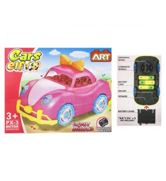 Конструктор Машина розовый MKC836817