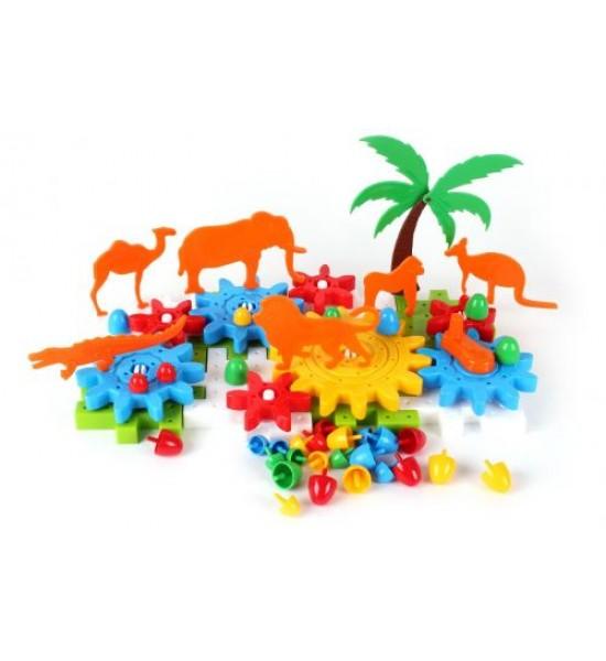 Конструктор Животные 66 деталей 3749