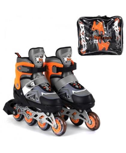 Ролики с подсветкой Best Roller S оранжевый 6202-S