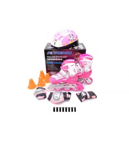 Ролики Kepai 34-37 розовые F1-k9\Mрожев
