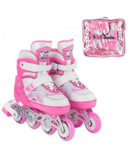 Ролики с подсветкой Best Roller S  розовый 7005-S