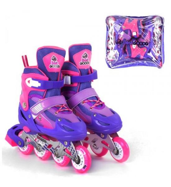 Ролики с подсветкой Best Roller S фиолетовый 10033-S