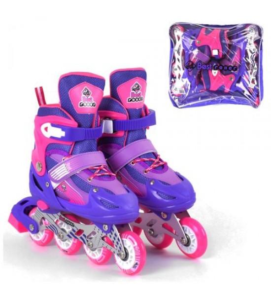 Ролики с подсветкой Best Roller L фиолетовый 20066-L