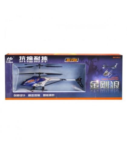 Вертолет на радиоуправлении Росомаха большой (синий) Л-00103