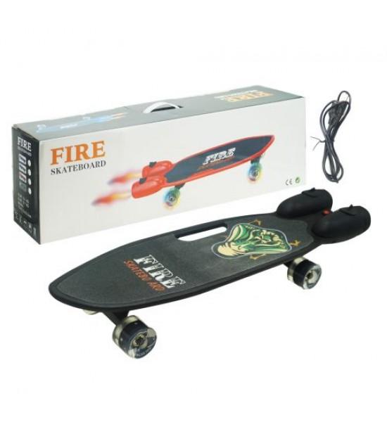 Скейт Fire черный GSK-0013