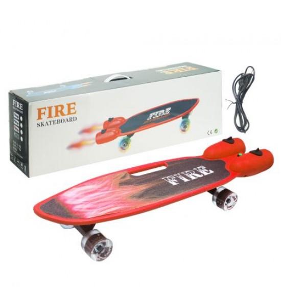 Скейт Fire красный GSK-0013
