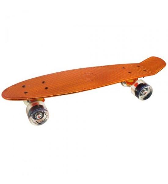 Пенни-борд зеркальный оранжевый GSK-0005